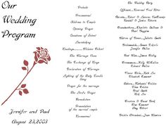 starfish couple tri fold wedding program template my dream wedding
