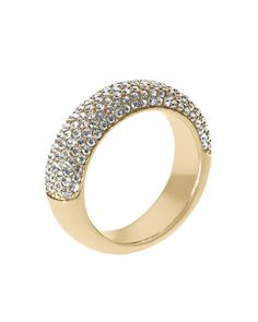 Michael Kors Pave Dome Ring, Golden - Neiman Marcus