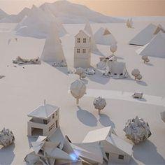 """Imagine uma cidade onde as ruas são pavimentadas com papel. Foi essa visão que Maciek Janicki quis transmitir em sua animação """"Paper City"""" (cidade de papel)."""
