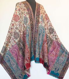 Genuine-Hand-Cut-Kani-Wool-Shawl-Paisley-Jamawar-Finely-Detailed-Jamavar