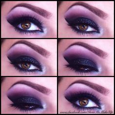 Black Smokey Eye & Soft Purple Fade. Click the pic for the 7 step how-to. #beauty #makeup #eyes #smokey #makeuphowto