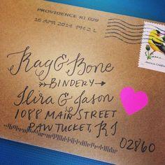 It's an excellent mail day when you get a #handwritten note from @Sarah Bianculli | Ilira @ragandbonebindery | Websta