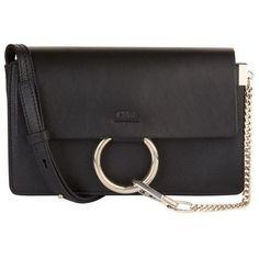 Chloé Small Faye Shoulder Bag (4.810 RON) ❤ liked on Polyvore featuring bags, handbags, shoulder bags, shoulder bag handbag, shoulder handbags, chloe shoulder bag, chloe purses and chloe handbags