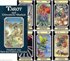 NEU! Super Rarität 1993 SET 78 Tarot Karten + Buch Tarot des Goldenen Drachen xx