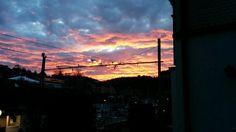 Geile Stimmung heute Morgen! Ein solches Morgenrot kommt immer nur gut mit Wolken!
