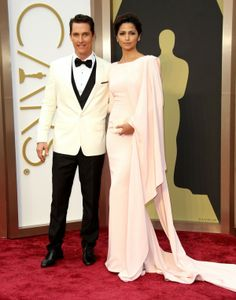 Matthew McConaughey and Camilla Alves. Oscar Red Carpet Favorites 2014 http://beautyismytreasure.blogspot.fi/2014/03/oscar-red-carpet-favorites.html