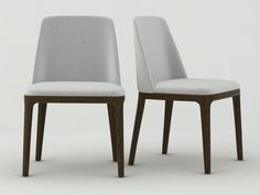 Poliform Grace chair 3d model  look at other poliform chairs too