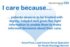 This is why Anna, Lead Cancer Nurse Specialist for the Acute Oncology Service, cares. Midwifery, I Care, Cancer, Campaign, Anna