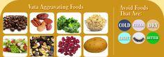 Ayurveda VATA - Aggravating FOODS - Learn more: http://www.foodpyramid.com/ayurveda/vata-dosha/ #vata #dosha #ayurveda
