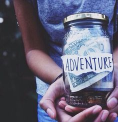 Saving up for an adventure is a task I've been doing for a while now. I like to put in at least a dollar into the jar a day. I would leave in a heartbeat if I had the money, but that is the reason I'm saving like a crazy person. For one day I'll see the world and more.