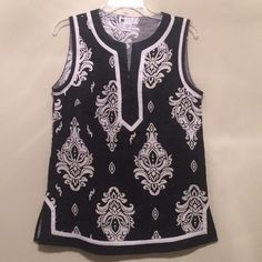Carole Little Top Black and white. Size medium. Button v-neck as shown in pictures. Carole Little Tops Blouses