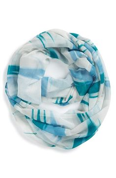 Women's Nordstrom 'Painterly Camo' Infinity Scarf - Blue/green