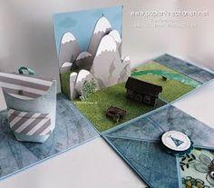 Papierkreationen.net: Explosionsbox für den Alpen-Urlaub Michel Brown, Picnic Blanket, Outdoor Blanket, Diy Desk, Birthday Presents, Paper Art, Stampin Up, Kids Rugs, Young Women