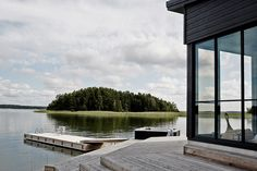 A House in the Nature – in Finland – A Frame for Life Modern Wooden House, Modern Barn, Summer Cabins, Summer Houses, Beautiful Small Homes, Terrace Garden, Cabins In The Woods, Cottage Homes, Black House