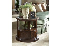 Fine Furniture Design Living Room Oval Storage End Table 1110 970   Whitley  Furniture Galleries
