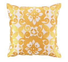 Cassandra Embroidered Linen Throw Pillow