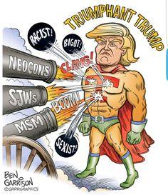 Triumphant Trump by Ben Garrison http://ift.tt/2byAnUb