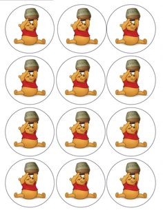 "Single Source Party Supply - 2.5"" Winnie the Pooh Cupcake Edible Icing Image Toppers"