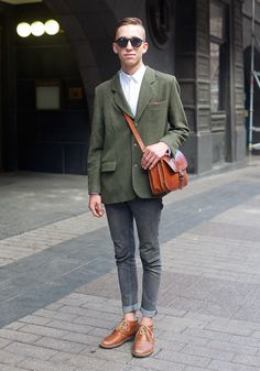 """Viktori - Hel Looks - Street Style from Helsinki - """"All my clothes are from Fida thrift stores.  The 50s, the 60s and Johnny Depp in the movie Public Enemies inspire me."""""""