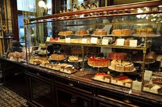 The Pastry Case at Café Demel in Vienna, Austria