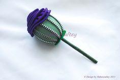 Keepsake Thistle boutonniere, button hole, pin, zipper flower, zip craft. bridal £14.00