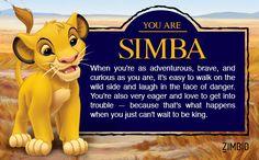 I took Zimbio's 'Lion King' quiz and I'm Simba! Who are you? #ZimbioQuiz  null - Quiz