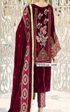 Online Indian and Pakistani dresses, Buy Pakistani shalwar kameez dresses and indian clothing. Pakistani Dresses, Indian Dresses, Indian Outfits, Velvet Shawl, Velvet Suit, Fashion Pants, Fashion Dresses, Add Sleeves, Shalwar Kameez