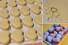 Smažená křehká srdíčka Czech Recipes, Cereal, Sweets, Cheese, Cookies, Baking, Czech Food, Breakfast, Christmas