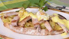 Tosta de secreto ibérico con huevo de codorniz y mahonesa de manzana - Julius - Julio Bienert - Receta - Canal Cocina