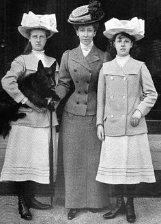 The Princess Royal with her daughters Princesses Alexandra left, and Maud, of Fife