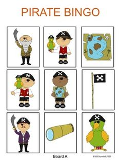 Free! Pirate Bingo (listening & language skills)