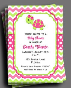 Turtle Invitation Printable  Girls Birthday or by ThatPartyChick, $18.00