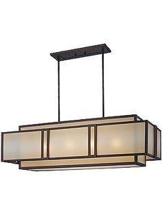 Lighting Fixtures Kitchen. Underscore Horizontal Pendant In Cimarron Bronze