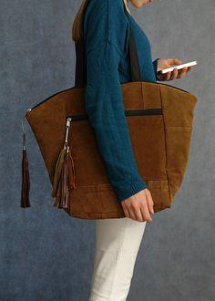 Koko Brown - zamszowa - barcikowskadesign - Torby na ramię