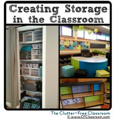 Creating Storage in the Classroom {tips and ideas from Clutter-Free Classroom}