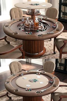Poker table around edges. Needs to be sewn in sections then stapled down Poker table around edges. Man Cave Home Bar, Man Cave Table, Man Cave Diy, Cool Man Cave Ideas, Rustic Man Cave, Cave Bar, Man Cave Garage, Garage Game Rooms, Man Cave Shed