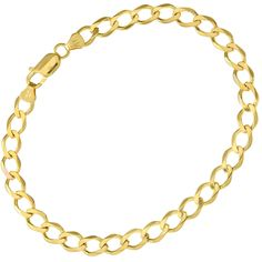 Citerna 9 ct Yellow Gold 7.2 g Curb Bracelet of 22 cm/8.5 Inch Length and 6.2 mm Width
