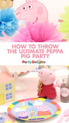 If you're child is a fan of Peppa Pig, then they'll love this Peppa Pig birthday party! Read our Peppa Pig party ideas for decorations, party food, party games and more!