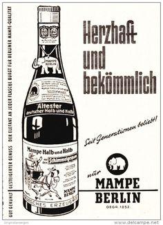 Original-Werbung/ Anzeige 1961 - MAMPE HALB + HALB - BERLIN - ca. 65 x 90 mm