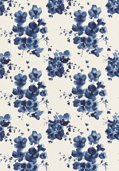 Mandarin Flowers (221324) - Sanderson Fabrics - Mandarin Flowers is inspired traditional Chinese ink-paintings and is printed on glazed linen union. Shown in the Indigo blue colourway. Please request sample for true colour match. The complementary design, Inari, is available as non-woven wallpaper.