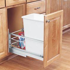Rev-A-Shelf Soft Close Single Pull Out 35 qt. Trash Can - 5349-15DM-1