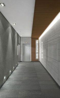 New Apartment Entrance Lobby Design Ideas Hotel Lobby Design, Elevator Lobby Design, Interior Design Companies, Office Interior Design, Office Interiors, Luxury Interior Design, Office Ceiling Design, Apartment Entrance, Office Entrance
