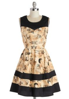 The Body Eclectic Dress, #Modcloth = I NEED this dress for Halloween. Its festive without being obnoxious and can be worn at any time of the year....I just love Halloween is all ;)