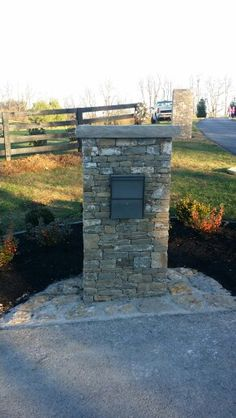 Stone / rock mailbox Woodford county  Versailles ky. Bryan Carroll