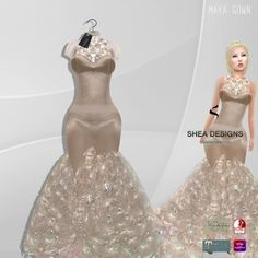 .SD. Maya Gown with Appliers ~ Cream {Maitreya/Belleza/Omega/Slink}