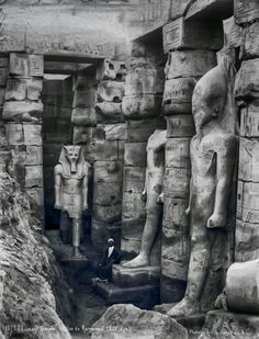 Photo from a statue of Ramses II - 1237 BCE) The Great at the temple of Ammon in Luxor. Ancient Egyptian Art, Ancient Ruins, Ancient Artifacts, Ancient History, Old Egypt, Egypt Art, Empire Romain, Ancient Mysteries, Ancient Civilizations