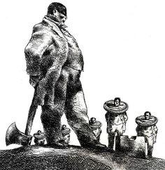forma es vacío, vacío es forma: Brad Holland ( III ) - ilustración, dibujo
