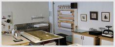 Conservation studio - old Works on Paper studio layout