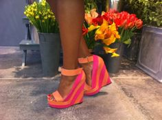 Perfect for the summer #neon #wedges #colourblock