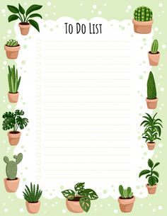 Hygge Weekly Planner And To Do List With Potted Succulent Plants. To Do Planner, Kids Planner, Planner Pages, Week Planner, College Planner, College Tips, Weekly Planner Template, Daily Planner Printable, Printable Calendars